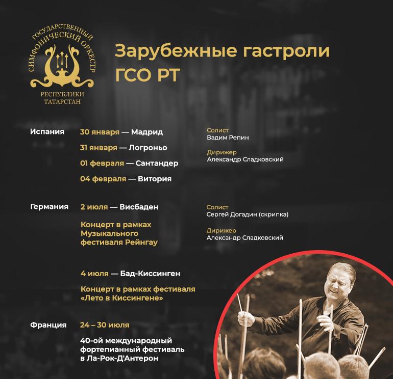 Гастроли Государственного симфонического оркестра Республики Татарстан. Германия, Бад-Киссинген, Висбаден